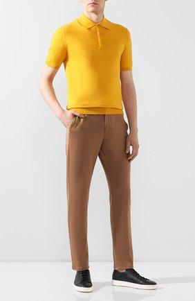 Мужское хлопковое поло CRUCIANI желтого цвета, арт. CU558.P30   Фото 2