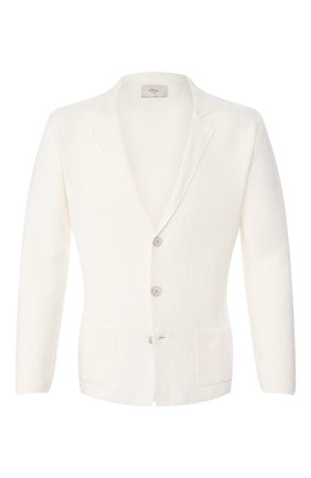 Мужской пиджак из смеси льна и хлопка ALTEA белого цвета, арт. 2051237   Фото 1