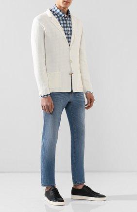 Мужской пиджак из смеси льна и хлопка ALTEA белого цвета, арт. 2051237   Фото 2