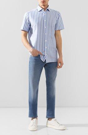 Мужская хлопковая рубашка VAN LAACK голубого цвета, арт. RIVARA-S-TF/156321   Фото 2