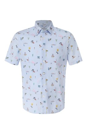Мужская хлопковая рубашка VAN LAACK голубого цвета, арт. LET0N1-S-SFW/171462   Фото 1