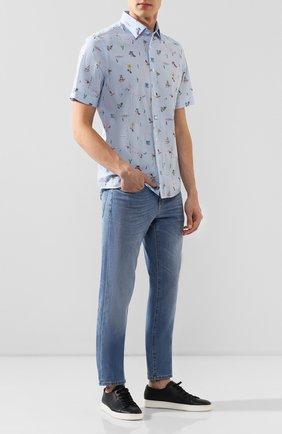 Мужская хлопковая рубашка VAN LAACK голубого цвета, арт. LET0N1-S-SFW/171462   Фото 2