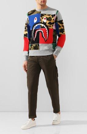 Мужской хлопковый свитшот BAPE разноцветного цвета, арт. 1G30113003 | Фото 2