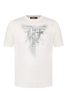 Мужская хлопковая футболка ZILLI белого цвета, арт. MBT-NT530-JETE1/MC02 | Фото 1 (Длина (для топов): Стандартные; Рукава: Короткие; Материал внешний: Хлопок; Стили: Кэжуэл)