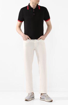 Мужские джинсы ZILLI белого цвета, арт. MCT-00210-DEWH1/R001 | Фото 2
