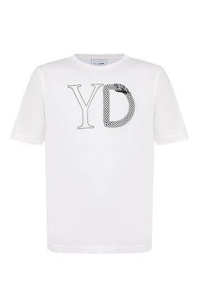 Мужская хлопковая футболка ZILLI белого цвета, арт. MET-ZS0YD-C0T0N/MC02   Фото 1