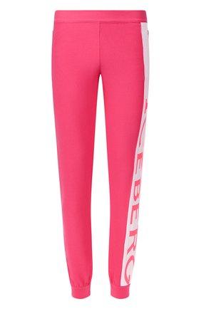 Мужской хлопковые джоггеры ICEBERG розового цвета, арт. 20E I2P0/AB01/7604   Фото 1