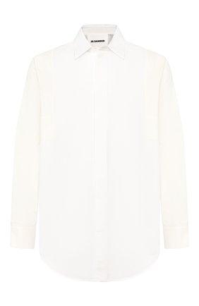 Мужская рубашка из смеси хлопка и льна JIL SANDER белого цвета, арт. JSMQ743326-MQ254000A | Фото 1