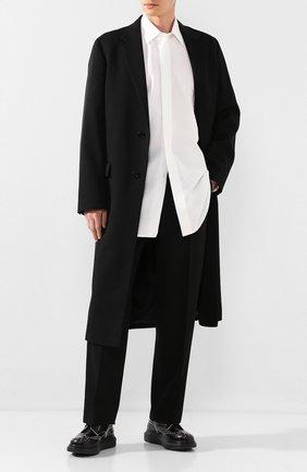 Мужская рубашка из смеси хлопка и льна JIL SANDER белого цвета, арт. JSMQ743326-MQ254000A | Фото 2