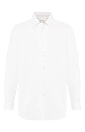 Мужская хлопковая рубашка JIL SANDER белого цвета, арт. JSMQ741626-MQ244300 | Фото 1