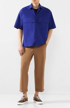 Мужская хлопковая рубашка JIL SANDER синего цвета, арт. JSMQ741526-MQ244200 | Фото 2