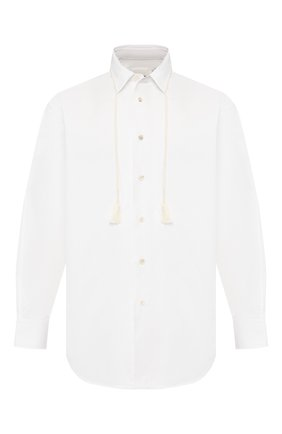 Мужская хлопковая рубашка JIL SANDER белого цвета, арт. JSMQ740126-MQ244200 | Фото 1