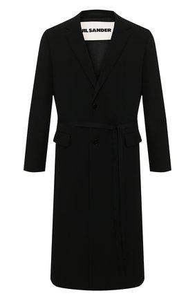Мужской шерстяное пальто JIL SANDER черного цвета, арт. JSMQ120101-MQ201500 | Фото 1