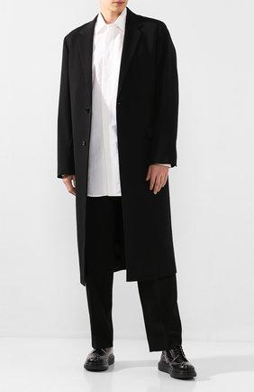 Мужской шерстяное пальто JIL SANDER черного цвета, арт. JSMQ120101-MQ201500 | Фото 2