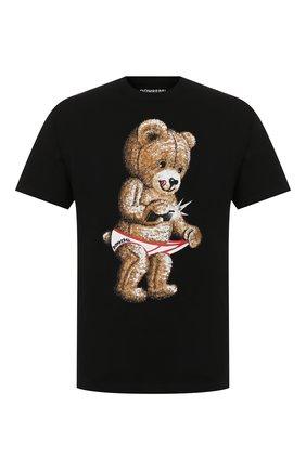 Мужская хлопковая футболка DOMREBEL черного цвета, арт. SNAP/0VERSIZE T-SHIRT | Фото 1
