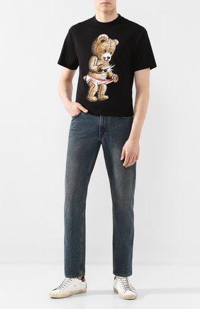 Мужская хлопковая футболка DOMREBEL черного цвета, арт. SNAP/0VERSIZE T-SHIRT | Фото 2