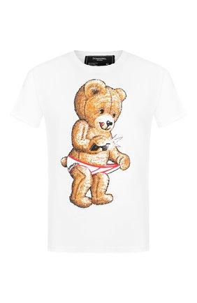 Мужская хлопковая футболка DOM REBEL белого цвета, арт. SNAP/REGULAR T-SHIRT | Фото 1