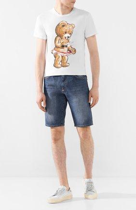 Мужская хлопковая футболка DOM REBEL белого цвета, арт. SNAP/REGULAR T-SHIRT | Фото 2