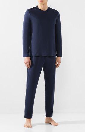 Мужская хлопковая пижама ERMENEGILDO ZEGNA синего цвета, арт. N6H010970 | Фото 1