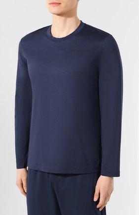 Мужская хлопковая пижама ERMENEGILDO ZEGNA синего цвета, арт. N6H010970 | Фото 2