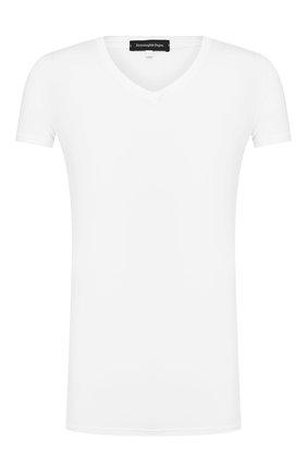 Мужские футболка ERMENEGILDO ZEGNA белого цвета, арт. N3M800990 | Фото 1