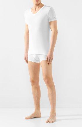 Мужские футболка ERMENEGILDO ZEGNA белого цвета, арт. N3M800990 | Фото 2