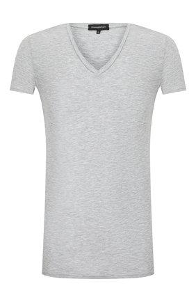 Мужские футболка ERMENEGILDO ZEGNA серого цвета, арт. N3M800990 | Фото 1