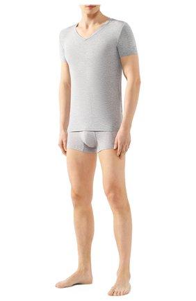 Мужские футболка ERMENEGILDO ZEGNA серого цвета, арт. N3M800990 | Фото 2