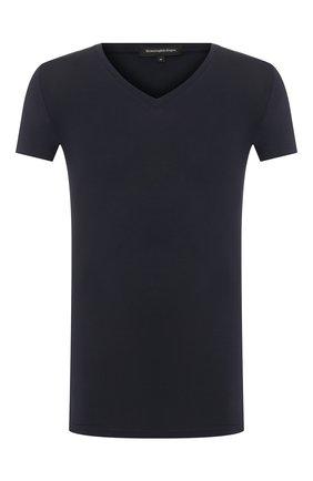 Мужские футболка ERMENEGILDO ZEGNA синего цвета, арт. N3M800990 | Фото 1