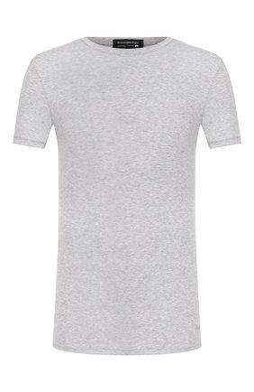 Мужские хлопковая футболка ERMENEGILDO ZEGNA серого цвета, арт. N3M200970 | Фото 1