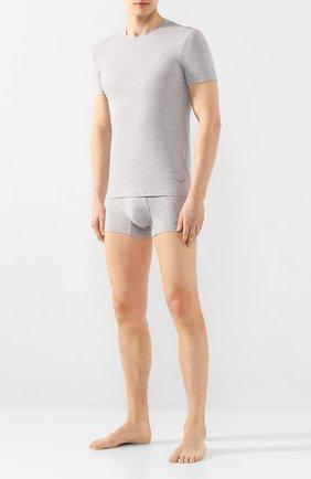 Мужские хлопковая футболка ERMENEGILDO ZEGNA серого цвета, арт. N3M200970 | Фото 2