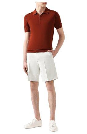 Мужское шерстяное поло LORO PIANA красного цвета, арт. FAI6633 | Фото 2