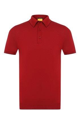 Мужское хлопковое поло SVEVO красного цвета, арт. 4650/SE20/MP46   Фото 1