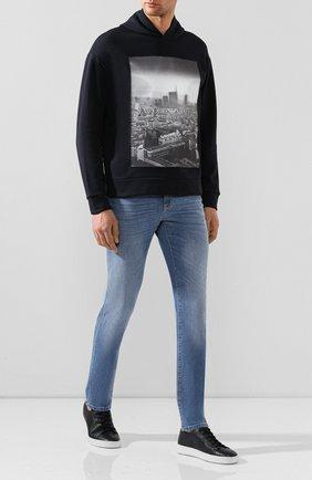 Мужские джинсы Z ZEGNA голубого цвета, арт. VU726/ZZ530 | Фото 2