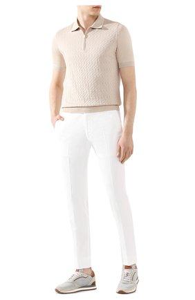Мужские хлопковые брюки RALPH LAUREN белого цвета, арт. 790802188 | Фото 2