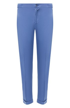Мужские льняные брюки KITON голубого цвета, арт. UFPLACJ07S40   Фото 1