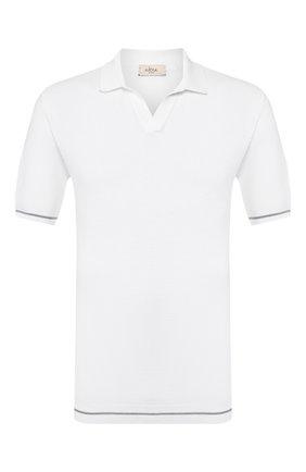 Мужское хлопковое поло ALTEA белого цвета, арт. 2051115   Фото 1