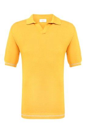 Мужское хлопковое поло ALTEA желтого цвета, арт. 2051115 | Фото 1