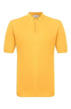 Мужское поло из смеси льна и хлопка ALTEA желтого цвета, арт. 2051311 | Фото 1