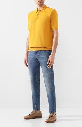 Мужское поло из смеси льна и хлопка ALTEA желтого цвета, арт. 2051311 | Фото 2
