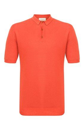 Мужское поло из смеси льна и хлопка ALTEA оранжевого цвета, арт. 2051311   Фото 1