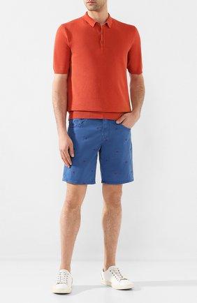 Мужское поло из смеси льна и хлопка ALTEA оранжевого цвета, арт. 2051311   Фото 2