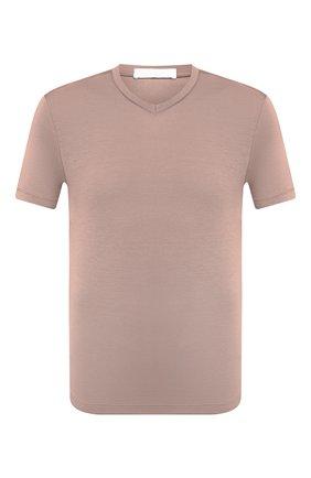 Мужская хлопковая футболка CRUCIANI темно-бежевого цвета, арт. CUJ0SB.V30 | Фото 1