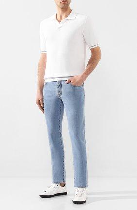 Мужские джинсы VILEBREQUIN голубого цвета, арт. VBMP0001-00970-W6 | Фото 2