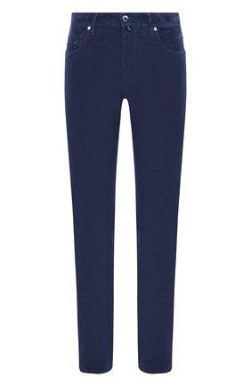 Мужской хлопковые брюки VILEBREQUIN синего цвета, арт. VBMP0001-02016-S   Фото 1