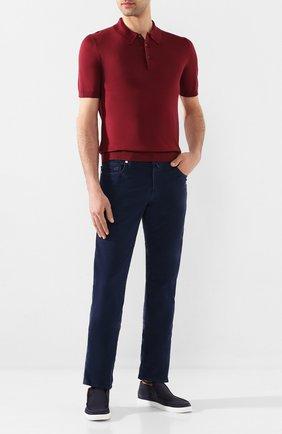 Мужской хлопковые брюки VILEBREQUIN синего цвета, арт. VBMP0001-02016-S   Фото 2