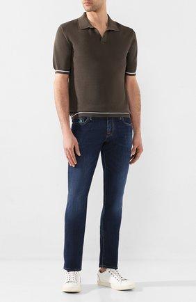 Мужские джинсы VILEBREQUIN синего цвета, арт. VBMP0006-00517-W2 | Фото 2