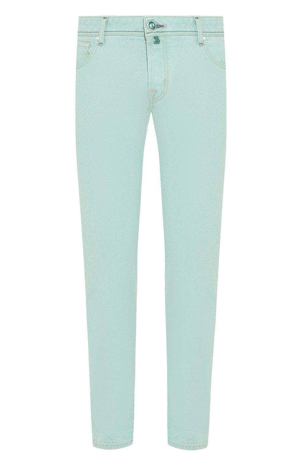 Мужские джинсы JACOB COHEN светло-зеленого цвета, арт. J622 C0MF 01861-W1/53   Фото 1