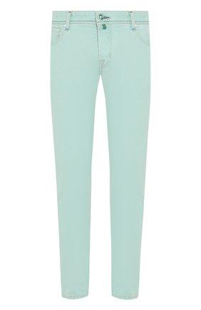 Мужские джинсы JACOB COHEN светло-зеленого цвета, арт. J622 C0MF 01861-W1/53 | Фото 1