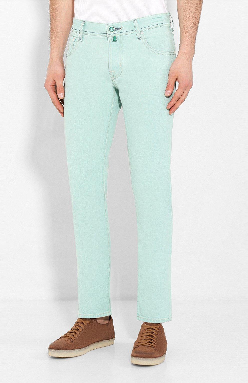 Мужские джинсы JACOB COHEN светло-зеленого цвета, арт. J622 C0MF 01861-W1/53   Фото 3